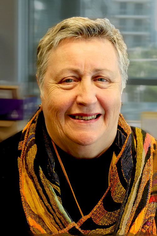 A photo of Sharon Bourke smiling warmly