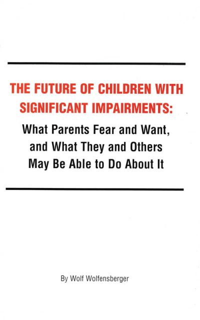 The cover of The future of children with significant impairments