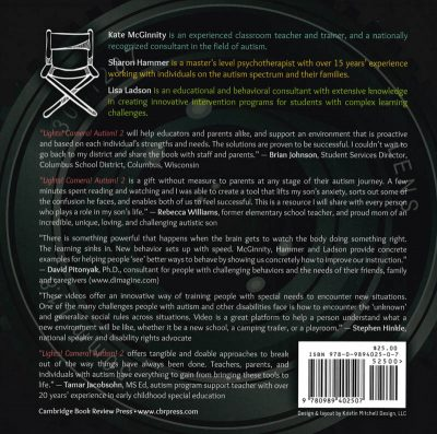The back cover of the book Lights! Camera! Autism! 2