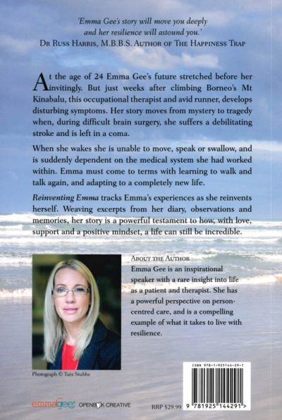 The back cover of the book Reinventing Emma