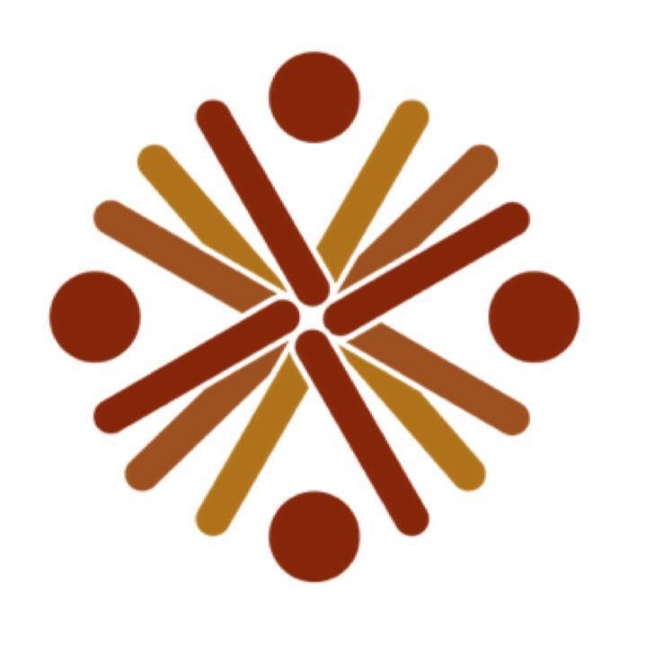 QCIE logo dark and light brown lines and circles in a circle