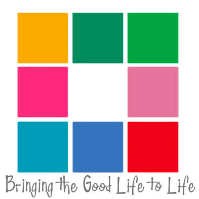 8 different coloured boxes in a square with white in the middle, Bringing the Good Life to Life