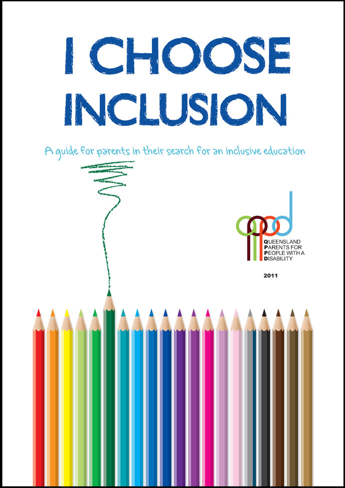The cover of a book that reads: I choose inclusion. A guide for parents in their search for an inclusive education.