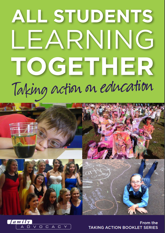 The cover of the booklet - all students learning together