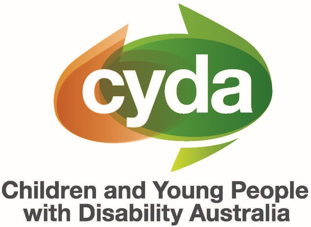 The logo of Children and Young People with Disability Australia (CYDA). Pronounced cider