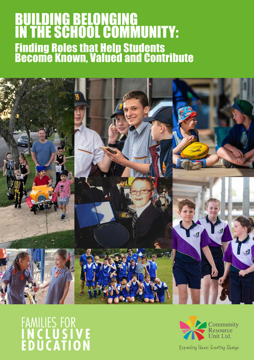 Cover of the booklet building belonging in the school community